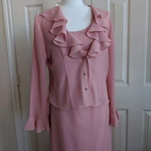 Jessica Howard 2pc Pink suit size 8
